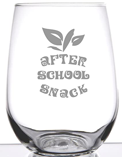 2f22b0d47b5 Amazon.com | Stemless Wine Glass - Gift After School Snack - Unique Gift  For Teacher: Wine Glasses