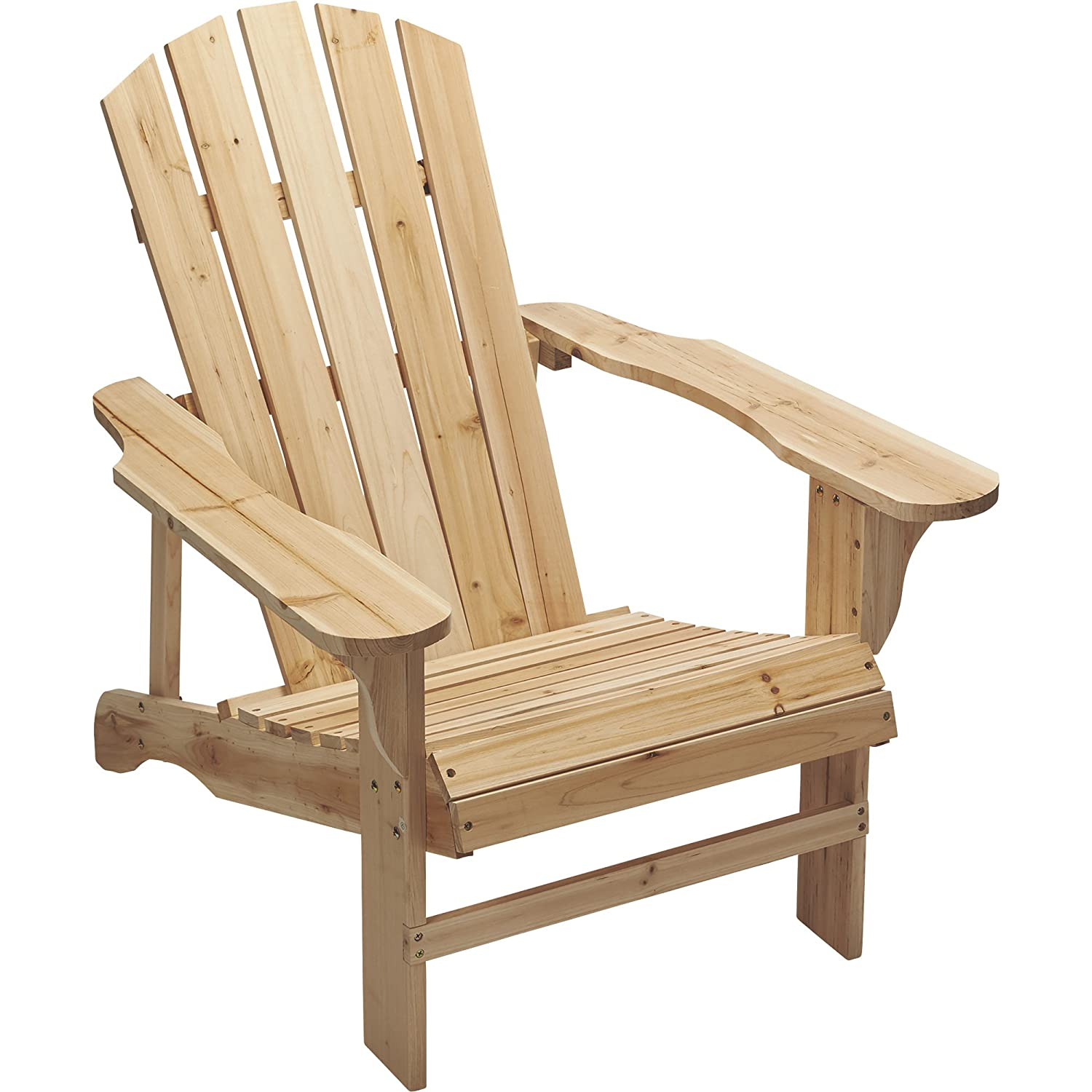 Cedar Unpainted Adirondack Chair