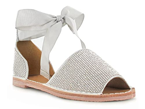 fc5e779c57e Diamante Glitter Silver Bow Lace up Detailing Flatform Peep Toe Super Comfy  Sandals for a Casual Summer Look Women s Daytime Evening Holiday Footwear   ...