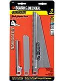 BLACK+DECKER 74-598 Navigator Combo Set, 3-Piece Blade set for Handsaw