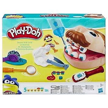 Play Doh Pate A Modeler Play Doh Le Dentiste Amazonfr Jeux Et