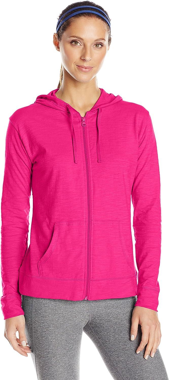 Hanes Women's Jersey Full Zip Hoodie at  Women's Clothing store