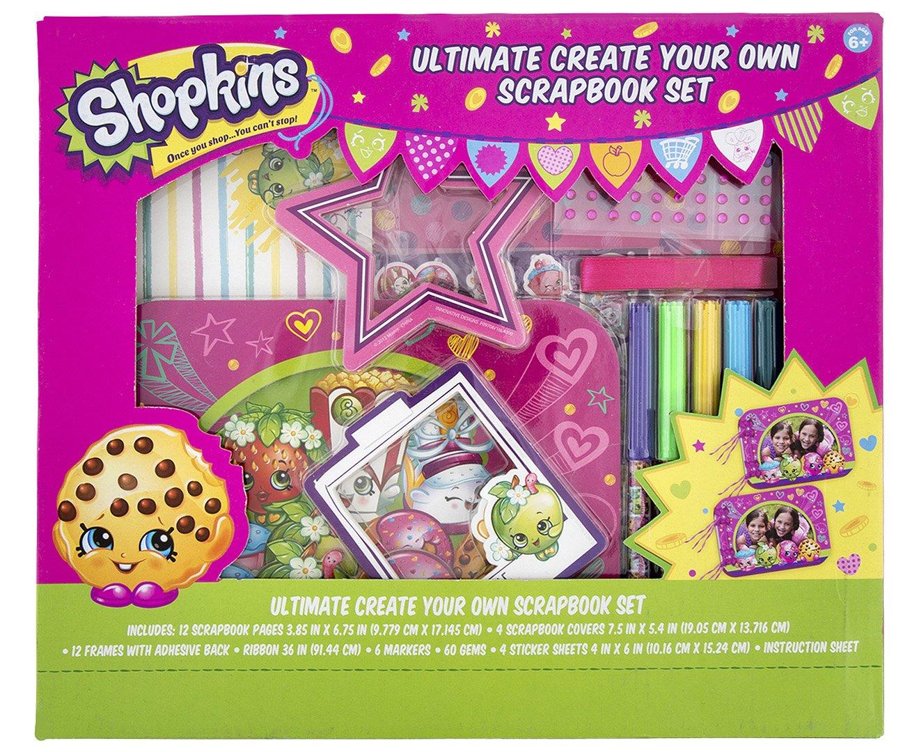 Amazon Shopkins Ultimate Create Your Own Scrapbook Set Toys