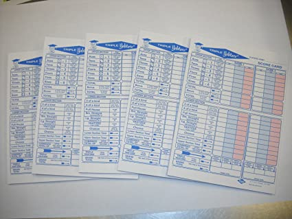 photograph relating to Printable Triple Yahtzee Score Sheets Pdf known as 250 Triple Yahtzee Ranking Sheets Pads Playing cards