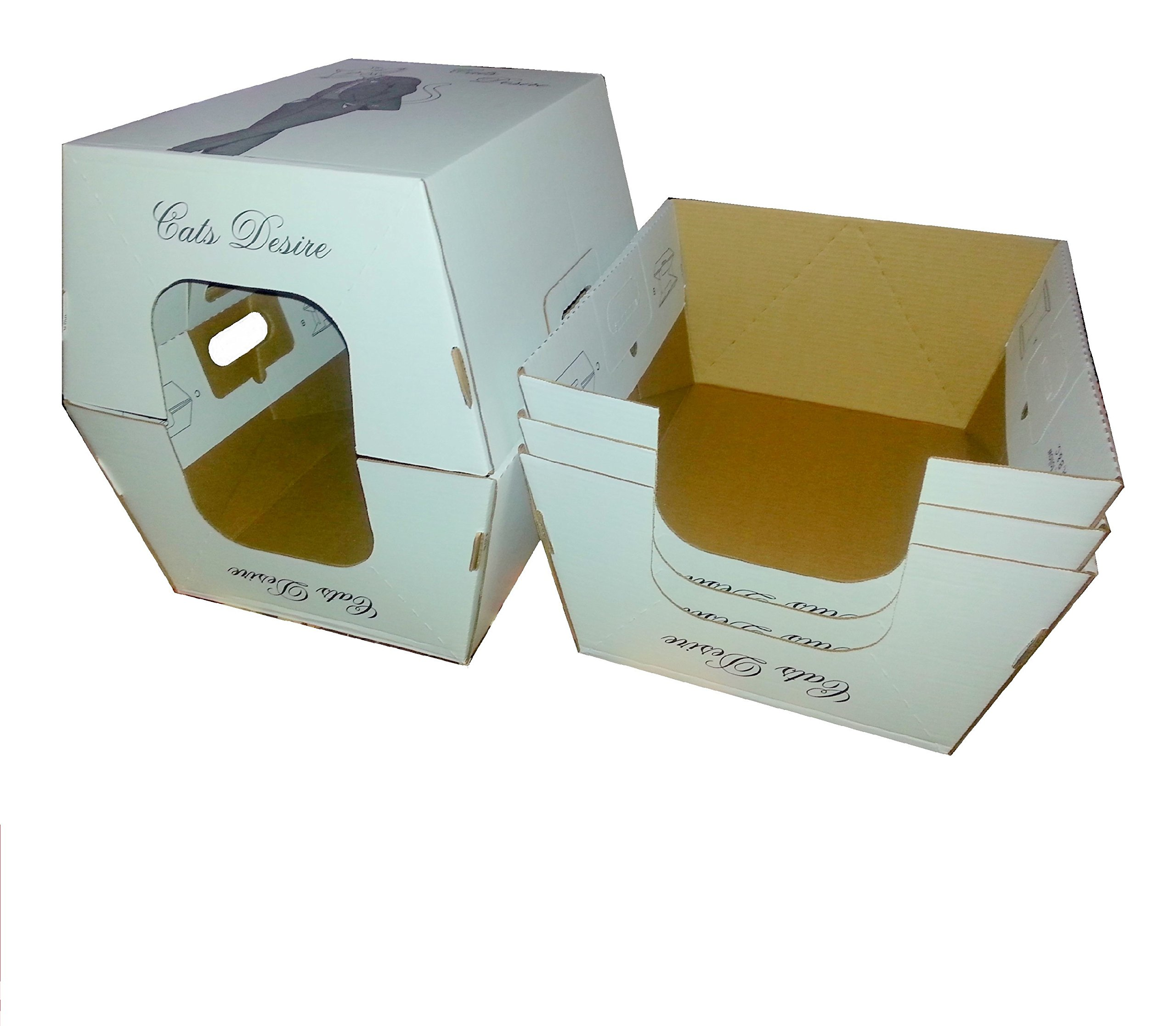 Cats Desire Disposable Litter Boxes with Moisture Barrier Interior