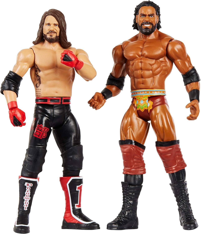WWE Pack de 2 - Figuras de acción luchadores AJ Styles vs Jinder Mahal, juguetes niños +6 años (Mattel GBN60): Amazon.es: Juguetes y juegos