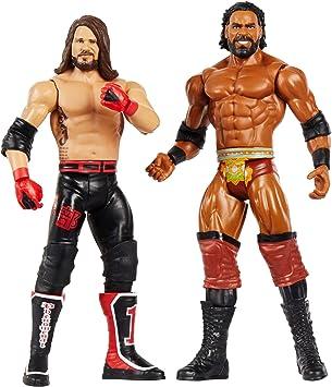 WWE Pack de 2 - Figuras de acción luchadores AJ Styles vs Jinder ...