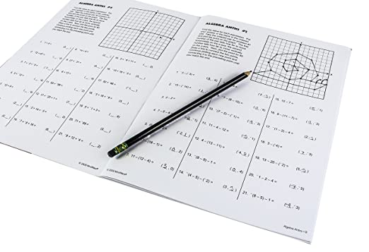Counting Number worksheets graphing coordinates pictures worksheets : Amazon.com: Algebra Antics: MindWare's Best Number Problems ...