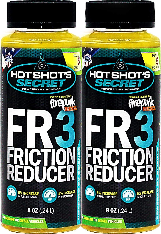 Amazon Com Hot Shot S Secret 2 Pack Fr3 Friction Reducer 8 Oz Treats 10 Quarts Of Oil Automotive
