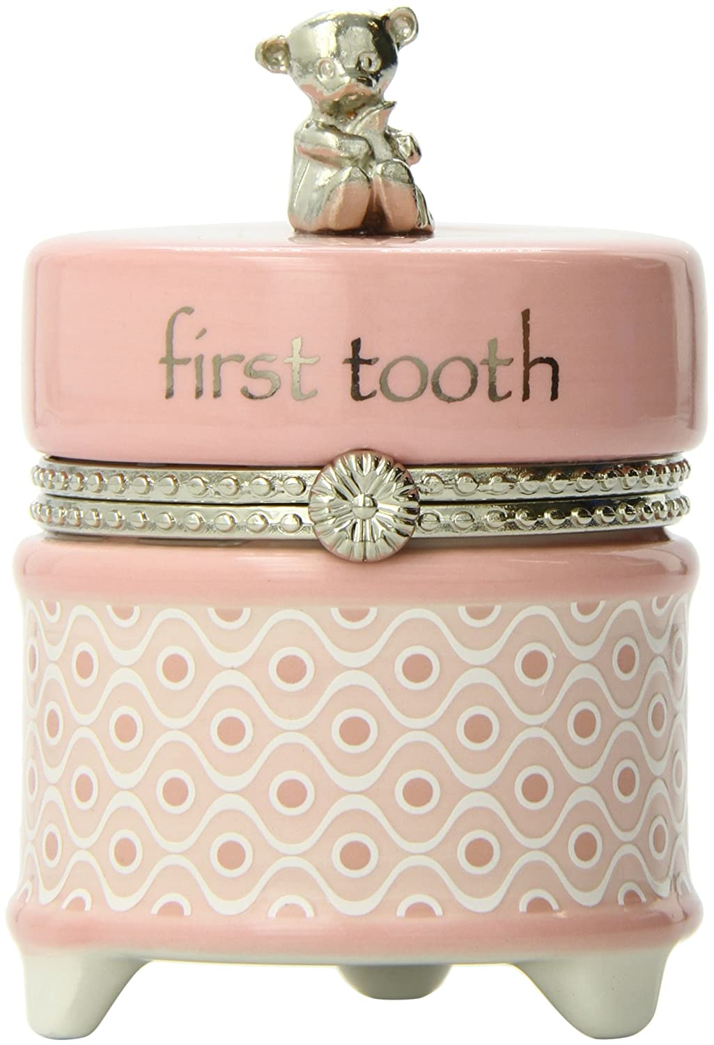 Nat and Jules First Tooth Keepsake Box, Pink P00259