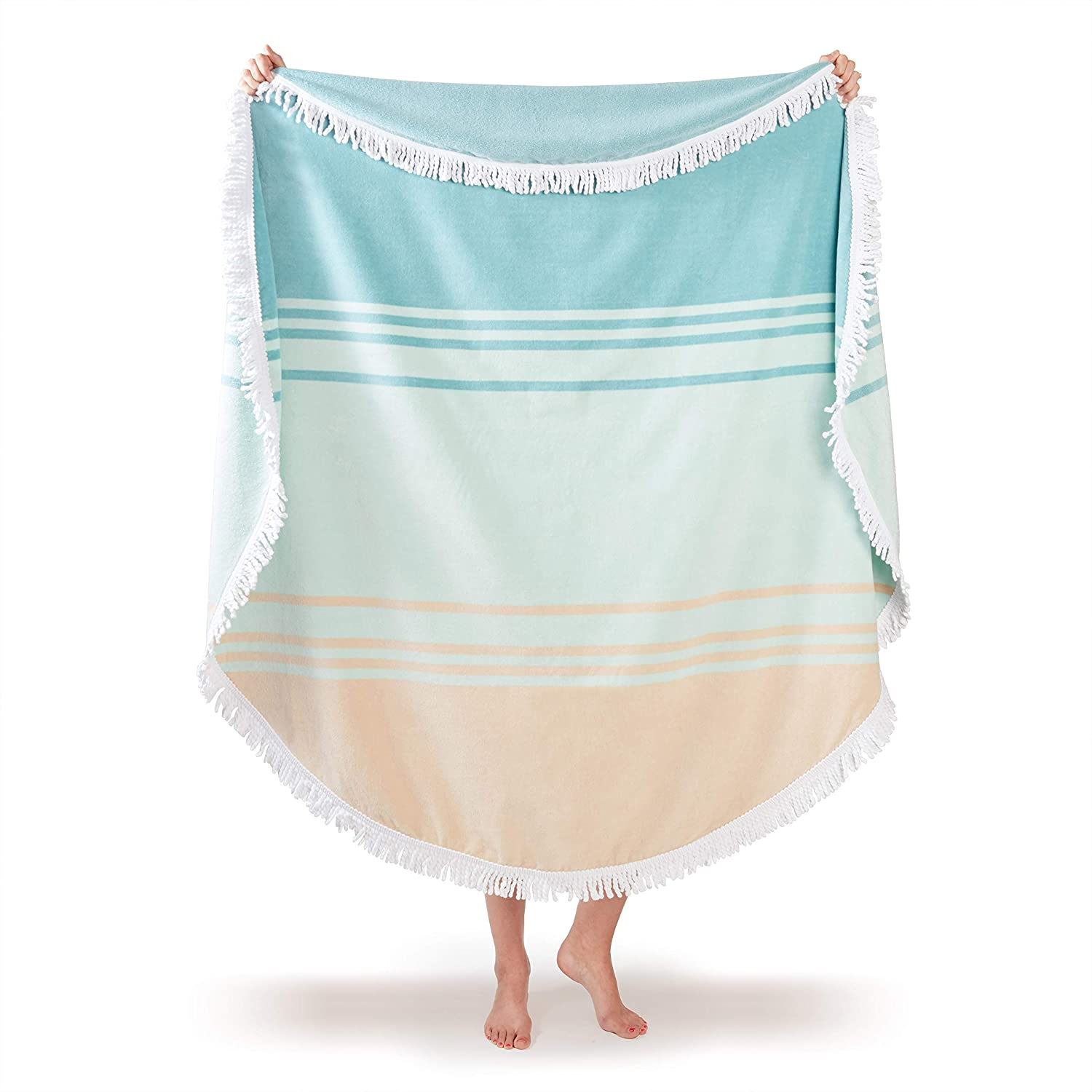 The Luxury Thick Round Beach Towel travel product recommended by Adam Krell on Lifney.