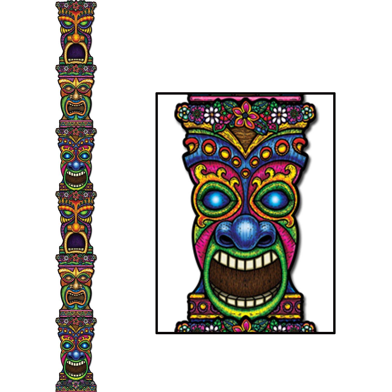 Beistle 66805 4 pack tiki masks 10 inch for Tiki hawaiano