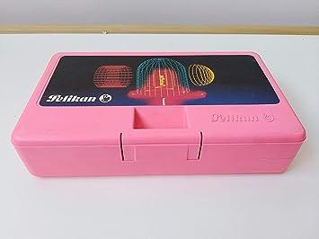 Estuche plumier rigido Pelikan años 80 Rosa: Amazon.es: Juguetes y juegos