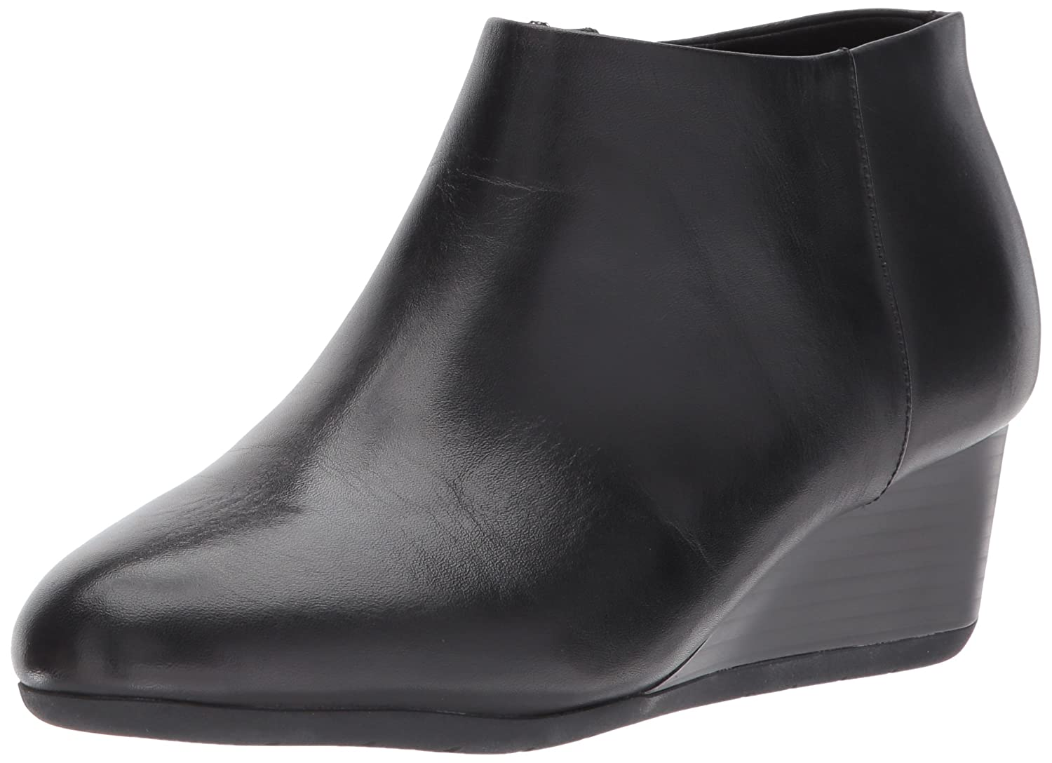 Easy Spirit Women's Leinee Ankle Bootie B06Y3VKQGV 10 B(M) US|Black Leather