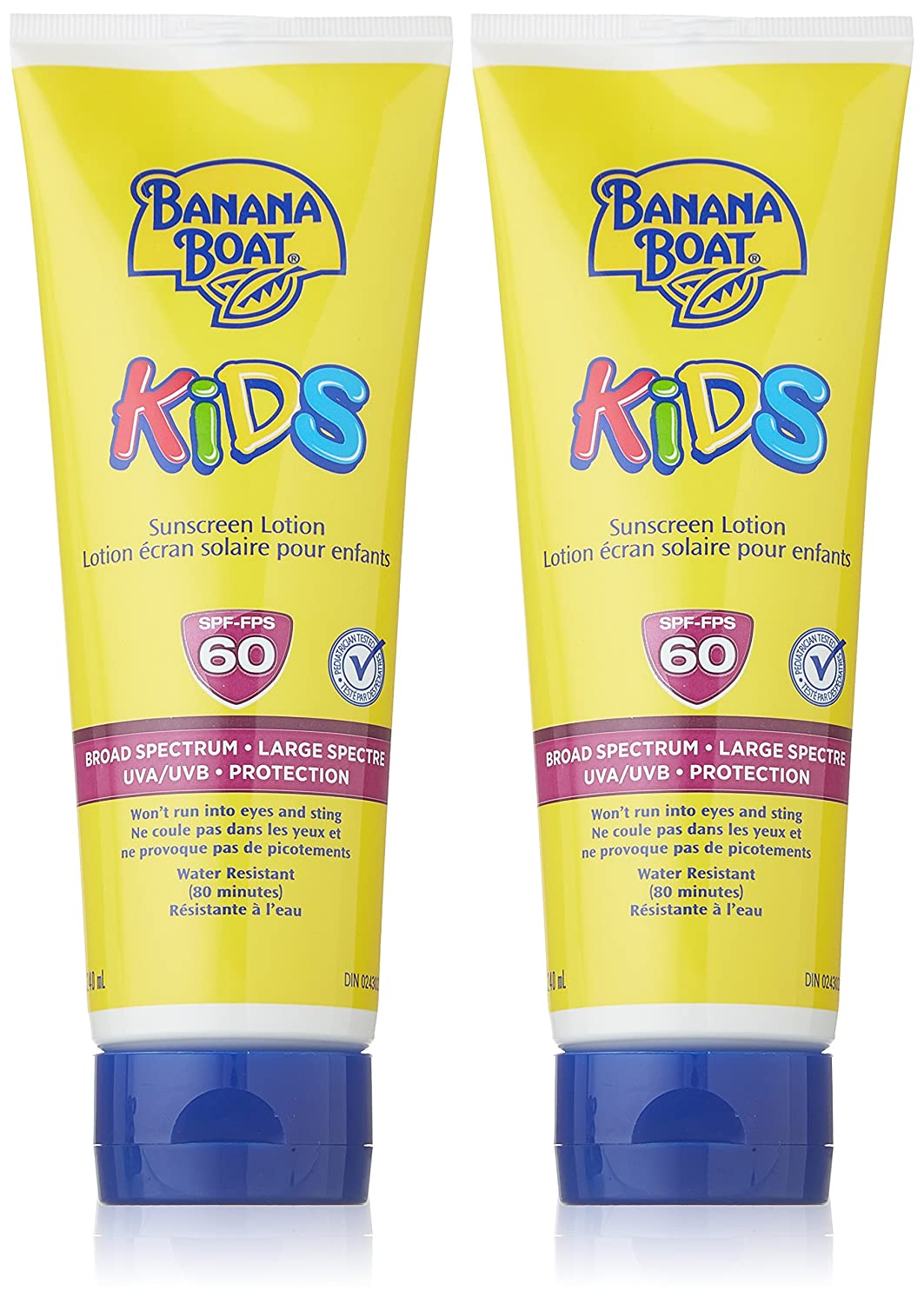 Banana Boat Kids Tear Free Sunscreen Lotion & Stick Bundle Pack, Broad Specturum, SPF 60, 480mL Lotion & 15.6g Stick Edgewell Personal Care