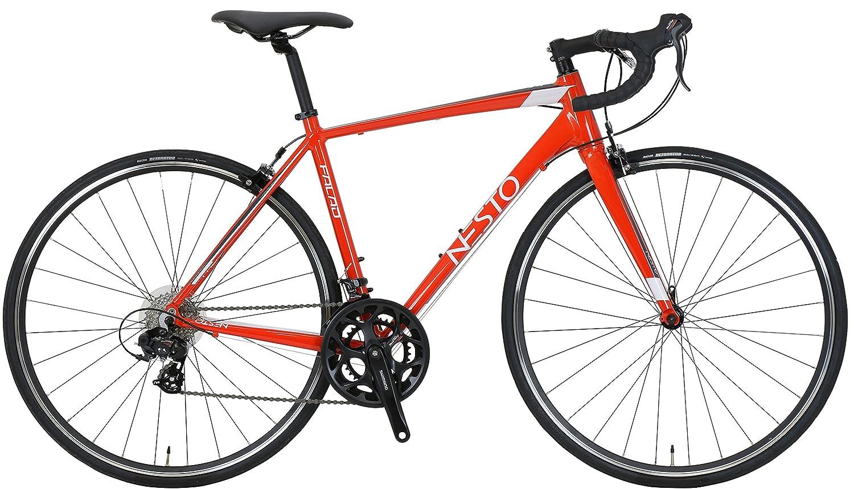 NESTO(ネスト) ファラド-K 465mm 700×25C 完全組立 軽量ロードバイク レッド NE-18-011 B07F3P5423