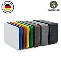 INNONEXXT® Lot de 160 plaques de support de qualité supérieure | 60 x 40 mm | Fabriqué en Allemagne | espaceurs, plaquettes en plastique | Espacement | dans le kit : 1.5, 2, 3, 4, 5, 10, 15, 20 mm