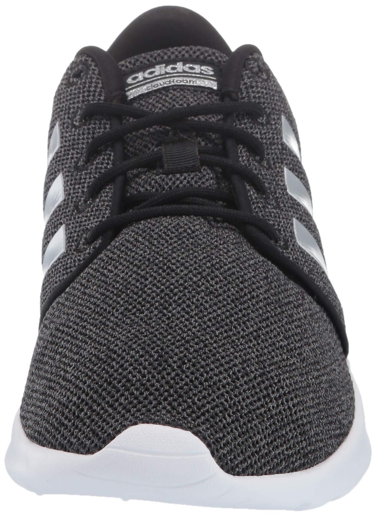 adidas Women's Cloudfoam Qt Racer Sneaker, Black/Silver Metallic/Grey, 5.5 M US by adidas (Image #4)