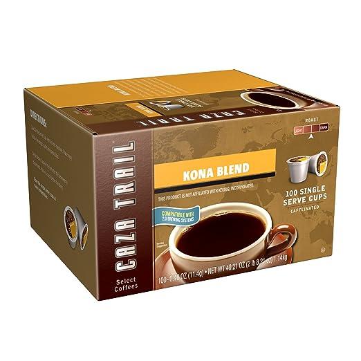 Caza Trail Coffee, Kona Blend, 100 Single Serve Cups