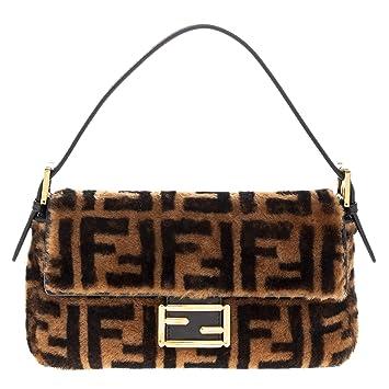 Amazon.com  Fendi FF Logo Printed Sheepskin Fur Baguette  TheLuxuryClub fa7fbb75bfd1e