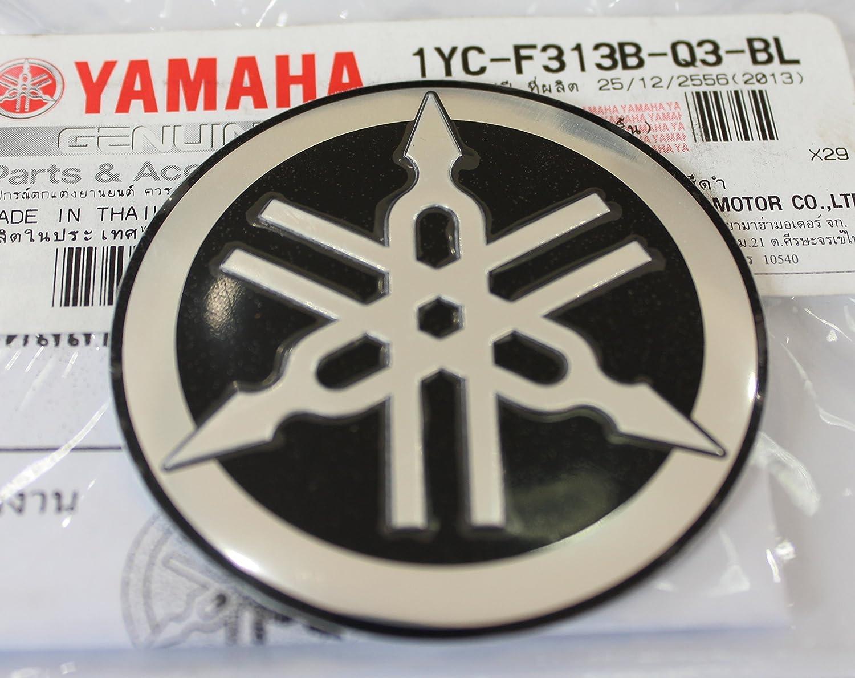 delicate 100% GENUINE 55mm Diamètre YAMAHA TUNING FOURCHE Autocollant Emblème Logo noir / ARGENT surélevé bombé Alliage Métallique Construction Autoadhésif Moto / Jet Ski / ATV / Motone