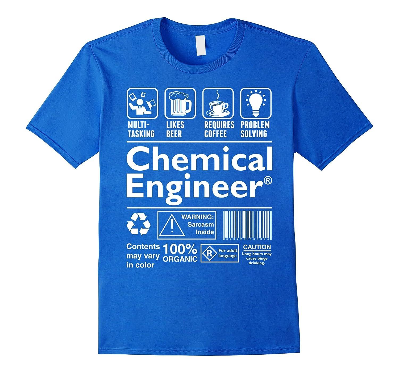 Beer Coffee Problem Solving Chemical Engineer Tshirt-TD