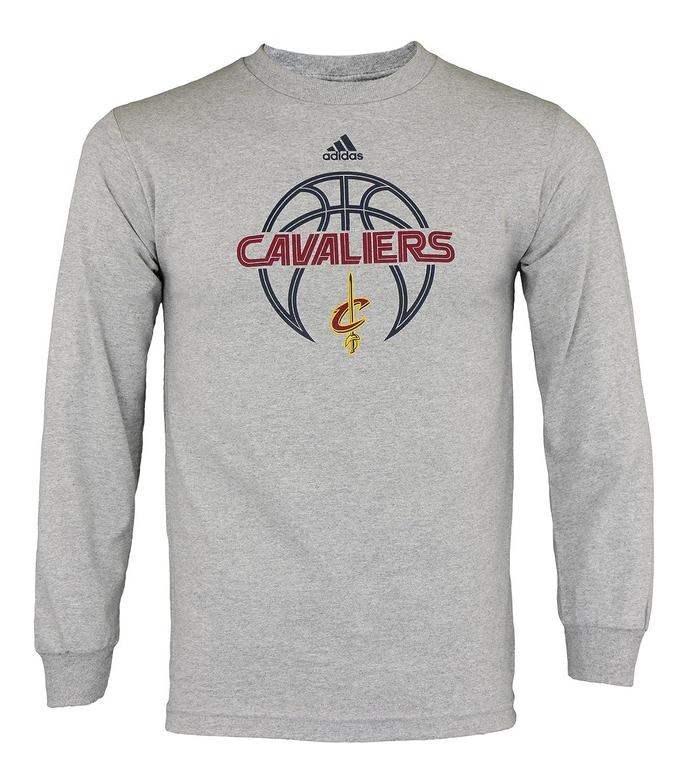 Clevelnad CavaliersメンズNBA Athlete長袖Tシャツ、グレー XX-Large クリーブランドキャバリアーズ B076CQKMJZ
