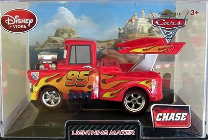 Amazon Com Disney Pixar Cars 2 Movie Exclusive 148 Die Cast Car In Plastic Case Lightning Mater Chase Edition