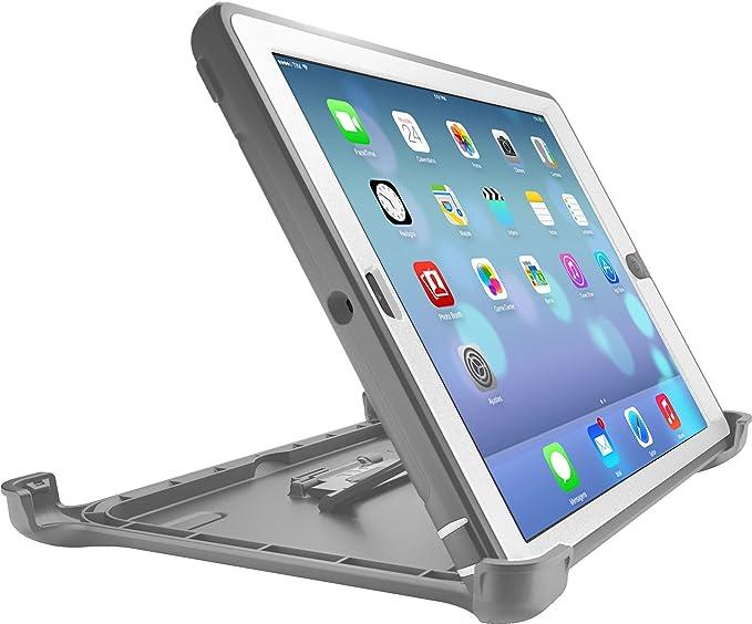 wholesale dealer 8d7af f91e7 OtterBox DEFENDER SERIES Case for iPad Air 2 - Frustration Free Packaging -  GLACIER (WHITE/GUNMETAL GREY)