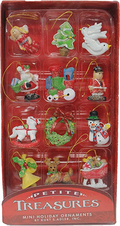 Kurt Adler Petite Treasures Miniature Christmas Ornaments 12 Pieces Kurt S Adler