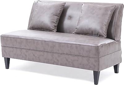 Amazon Com Acme 05674 Tufted Adjustable Back Sofa Brown