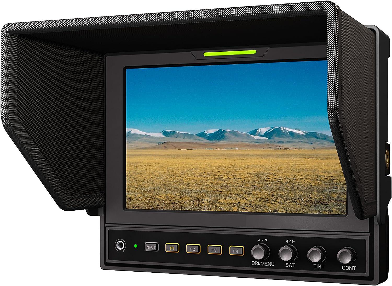 "LILLIPUT 662/S 7"" 1280X800 IPS Contrast 800:1 3G-SDI Camera-top Monitor with SDI & HDMI Cross Conversion + F970+LP-E6 Plate + Suitcase"