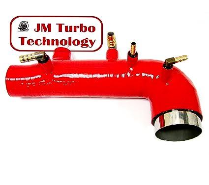 JM Compatible For 02-03-04 Subaru Wrx Sti Ej20 Ej25 Turbo Intake Inlet  Silicone Hose Red Color