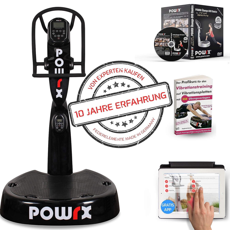 POWRX - Plataforma vibratoria Pro Evolution 4.0 Incluye Accesorios ...