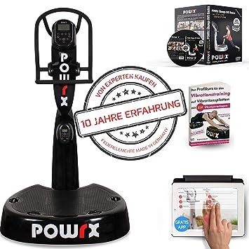 POWRX - Plataforma vibratoria Pro Evolution 4.0 Incluye Accesorios I ...