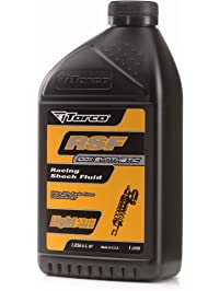 Torco T820005CE RSF Light Racing Shock Fluid Bottle, 1-Liter