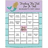 trading the tail for a veil mermaid bachelorette or bridal shower bingo game bar