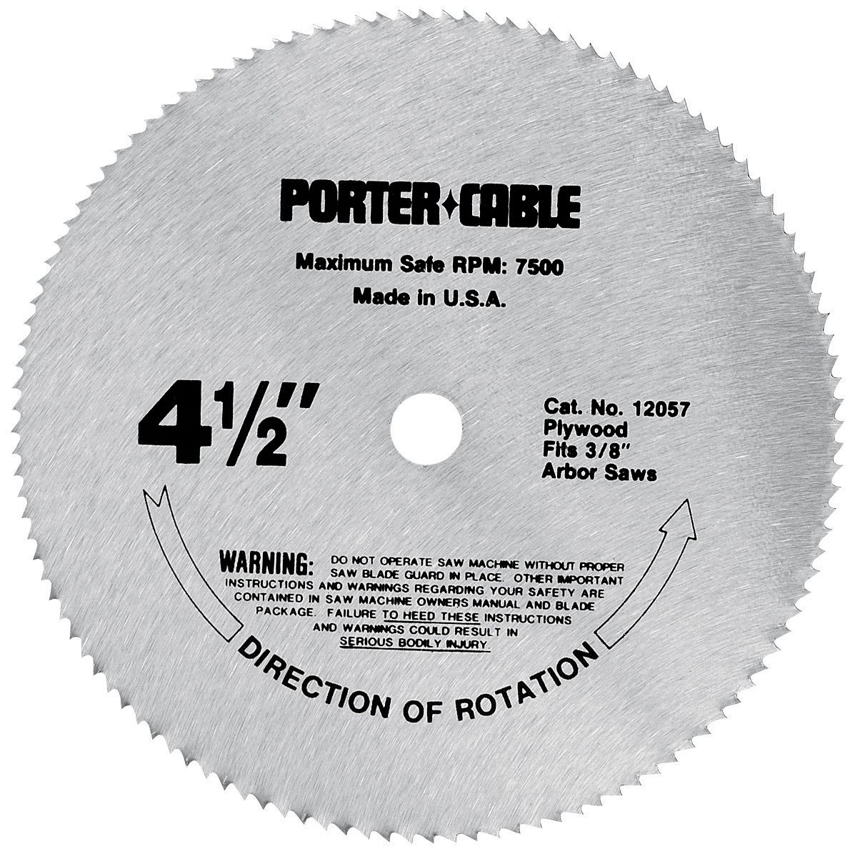 Porter cable 12057 4 12 inch 120 tooth tcg plywood cutting saw porter cable 12057 4 12 inch 120 tooth tcg plywood cutting saw blade with 38 inch arbor porter cable saw blades amazon greentooth Choice Image