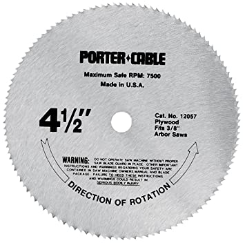 Porter cable 12057 4 12 inch 120 tooth tcg plywood cutting saw porter cable 12057 4 12 inch 120 tooth tcg plywood cutting greentooth Choice Image