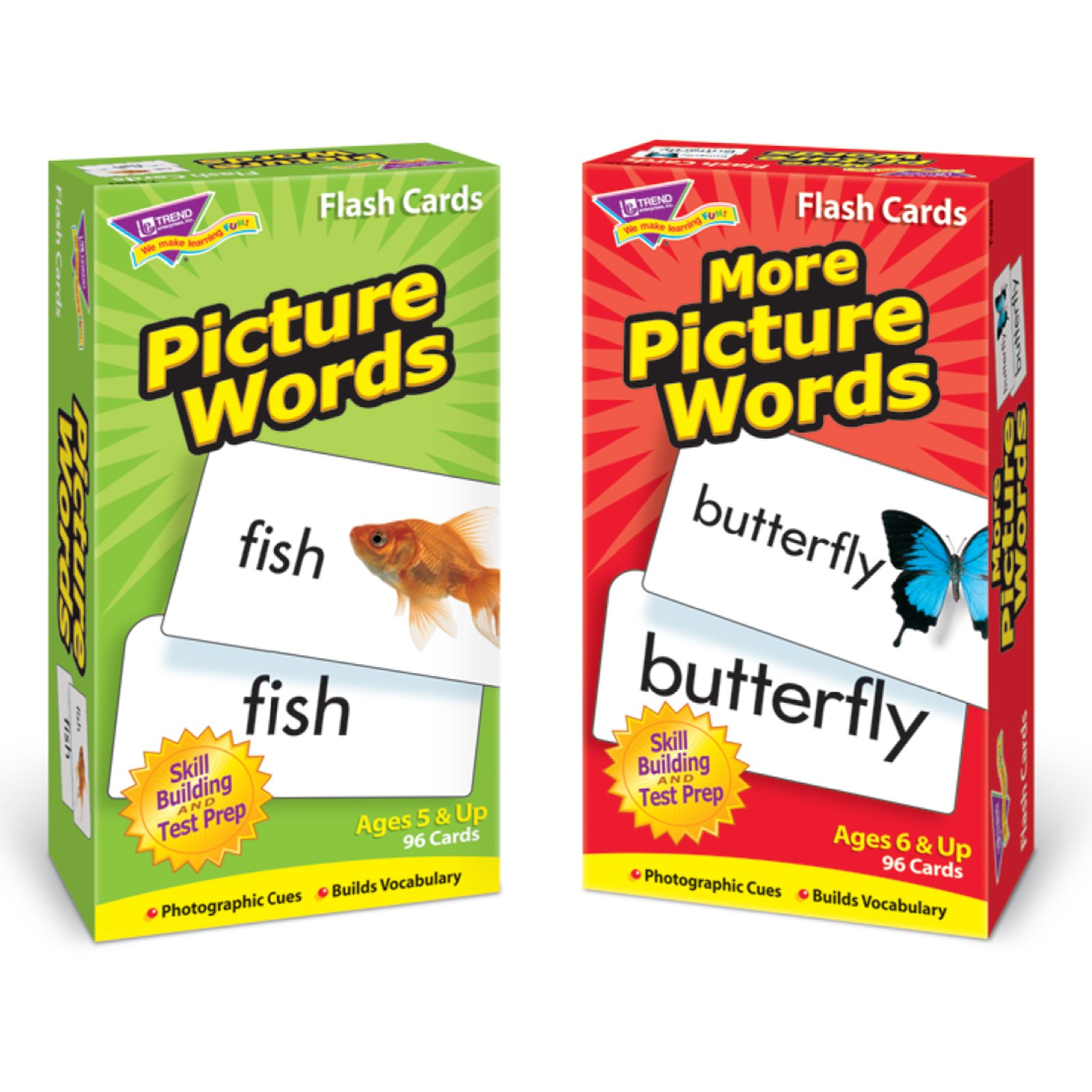 Trend Enterprises Picture Words Skill Drill Flash Cards Assortment, Trend