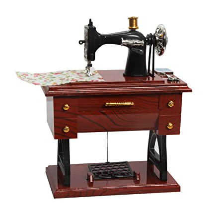 Sidiou Group Creativo clásico máquinas de coser modelo de caja de música mecánica caja de música