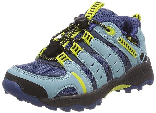 Apachi, Zapatos de Low Rise Senderismo Unisex Niños, Azul (Marine/Lemon), 34 EU Lico