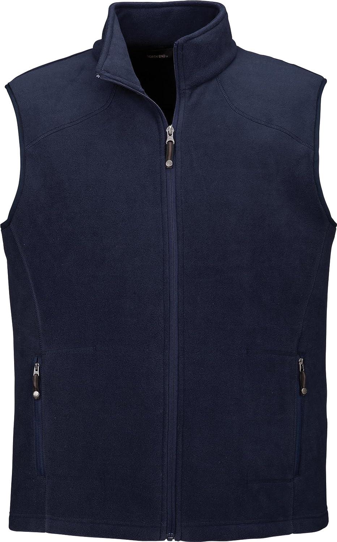 North End Mens Fleece Vest Classic Navy Small 88173
