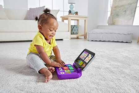 Fisher-Price Mi primer ordenador, juguete educativo bebé +6 meses (Mattel FXK32)