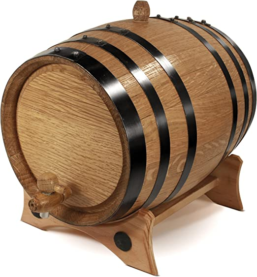 10 Liters Wine Beer Rum Bourbon Age your own Whiskey Tequila Barrel Aged Hot Sauce /& More Personalized Custom Engraved American Premium Oak Aging Barrel