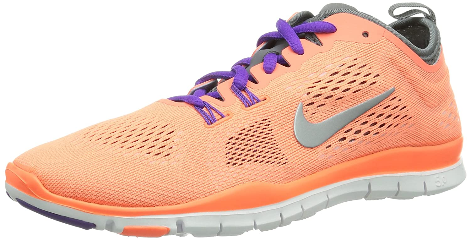 Nike Free 50 TR Fit 4 Damen Hallenschuhe  38 EU|Orange (Brght Mng/Wlf Gry-cl Gry-antrc)