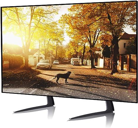 RFIVER Pied TV sur Table Meuble TV avec Support R/églage de la Hauteur pour T/él/éviseurs /à Ecran Plat 22-55 VESA jusqu/à 800 x 400 mm Capacit/é de 40 kgs Noir UT3002