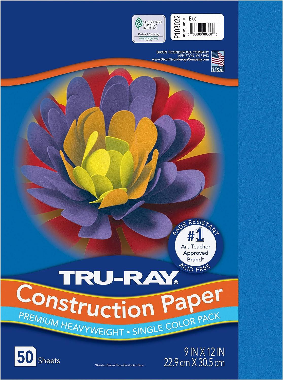 9 x 12 Tru-Ray Heavyweight Construction Paper Orange 50 Sheets