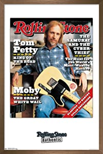 "Trends International Rolling Stone Magazine - Tom Petty 1995 Wall Poster, 22.375"" x 34"", Bronze Framed Version"