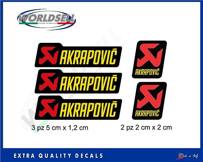 Akrapovic - Set de 5 pegatinas adhesivas para motocicletas ...
